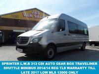 2014 14 MERCEDES-BENZ SPRINTER 2.1 313 BLUETEC TL9 BUS L.W.B NEW MODEL 9 SEATER