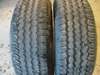 Two matching 265-60-18 tires $150.00