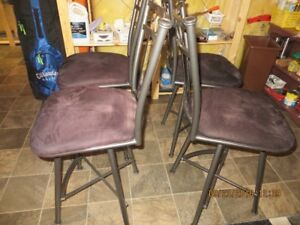 Four 24 inch kitchen stools