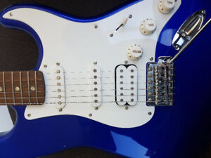 Squier Blue Electric Guitar + Case (New condition)