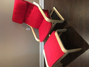 IKEA chair and foot stool. Excellent condition.