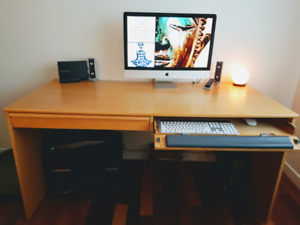 Pine finish Ikea desk moving so must sell.
