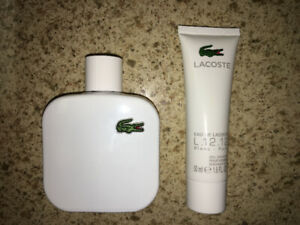 Lacoste White - Pure 100ml with shower gel $50
