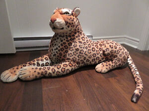 Giant Jaguar/Cheetah Stuffed Animal, Toutou Geant Jaguar/Cheetah