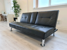 FREE DELIVERY 🚚 Sofa Bed black leather, Couch, Chair, Furniture