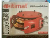 Itimat double grill oven mix heat