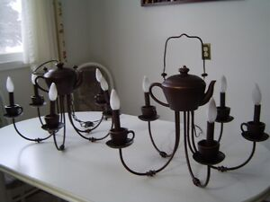 Chandelier pair - teapot and teacups