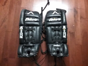 Hockey Goalie pads and shoulder pads
