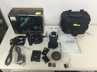 Nikon D7000 16.2MP DSLR Camera - Black with Sigma17-70mm 1:2.8-4.5 lense Used in good condition