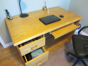 Custom Made Oak Office Desk