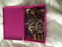 Box of Necklaces, bracelets and rings!