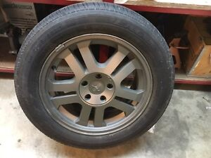 Set of 4 Ford Mustang 5x114.3 bolt Pattern Goodyear Tires