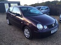 VW POLO 1.2 S 3DR 2003 IDEAL FIRST CAR CHEAP INSURANCE FULL SERVICE HISTORY
