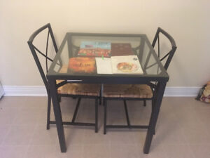"""28"""" square glass dining/kitchen table"""