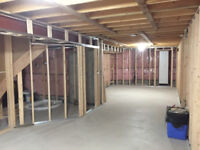 SCR Drywall-Taping, Basement Framing