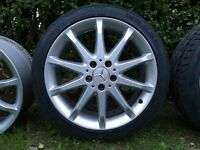 Mercedes alloys with brand new NEXEN tyres 18' inch 5x112 ML c-class e-class may VW Seat Skoda