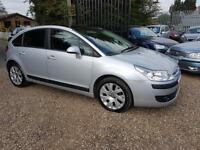 Citroen C4 1.6HDi ( 92bhp ) Cachet, 9 Services, Full Glass Roof, PX