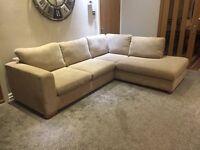 John Lewis Felix Material Corner Sofa