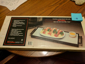 Rival deluxe hot electric tray