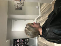 Hairdresser doing hair from home colour highlights cuts waxing