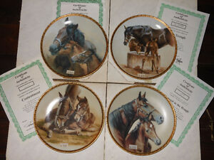 "Four collector plates from ""Mares and Foals"" series."
