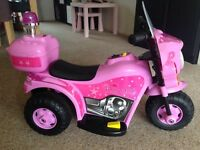 Ride on electric princess bike