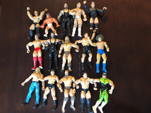 ABOUT 26 WWE WRESTLING ACTION FIGURES REMAIN, LJN, TITAN