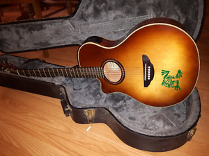 Yamaha APX 5LA (LEFT HANDED) ACOUSTIC and hard case