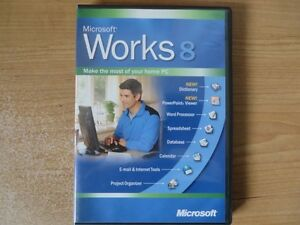 MICROSOFT WORKS 8 ON DVD LIKE NEW