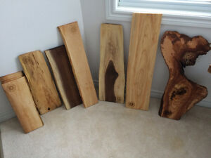 Live edge charcuterie/cutting boards.