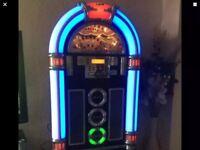 STEEPLETONE JUKEBOX MACHINE BLUETOOTH / CD / RADIO / USB IN BLACK