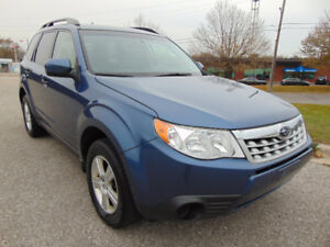2012 SUBARU FORESTER 2.5X AWD, ONE OWNER, CLEAN CAR-PROOF!
