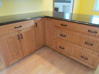 Beautiful cabinets and granite counter tops