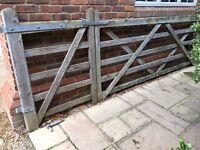 Wooden field gate 5 bar gate driveway