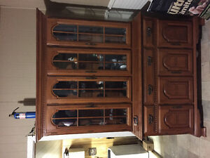 Beautiful real wood China cabinet