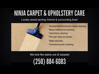 NINJA CARPET & UPHOLSTERY CLEANING. BEST RATES !!