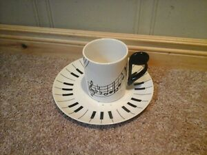 Musical Coffee mug and plate (matching) Kitchener / Waterloo Kitchener Area image 2
