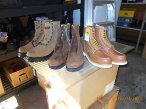 NEW MEN'S SIZE 14 SAFETY CSA STEEL TOE WORK BOOTS $60