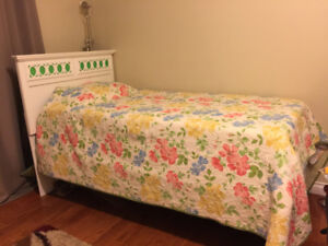 3 piece bedroom set (single bed frame, nightstand, dresser)