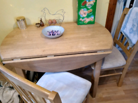 Kitchen table with two chairs