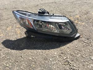 2015 Honda Civic Sedan Passenger Right Side Headlight Assembly