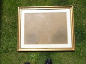 Picture frame antique gold effect