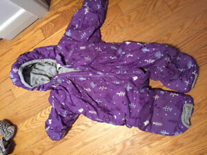 Columbia Down-filled Baby Snowsuit (Purple 18 mo)