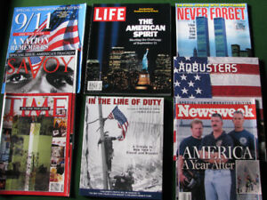 Eight 9-11 related special edition magazines