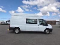 Ford Transit T350 LWB CREW WELFARE VAN 100PS EURO 5 DIESEL MANUAL WHITE (2014)