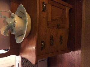 Antique Wash Stand and wash basin