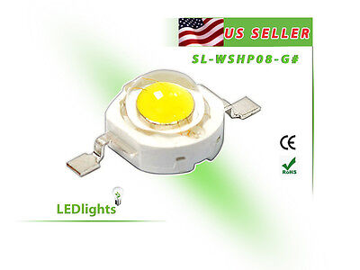 3w Yellow Led High Power Component Chip 3000k Diy 3 Watt 240 Lumens From Usa