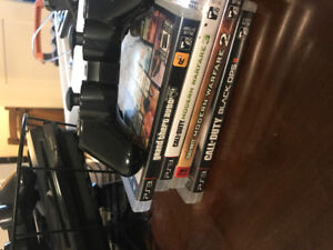 PS3 & variety of games, two controllers, & webcam!
