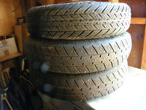 Temporary tires on steel rims