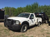 2002 Ford F-350 and 2014 5th wheel dump trailer